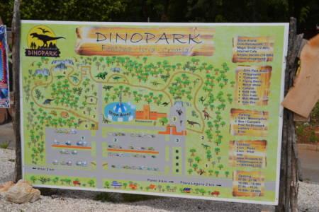 Plan vom Dinopark Funtana